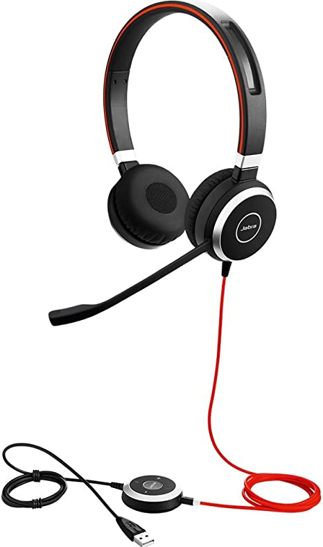 Lot of 10 Jabra Evolve 40 Stereo Headset With Microphone and USB Headset Adapter