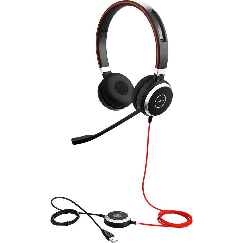 Jabra Evolve 40 UC Stereo Wired Headset / Music Headphones (U.S. Retail Packaging)