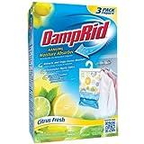 DampRid Hanging Moisture Absorber, Citrus Fresh, 14 Oz Bag 3 Count - 1 Pack
