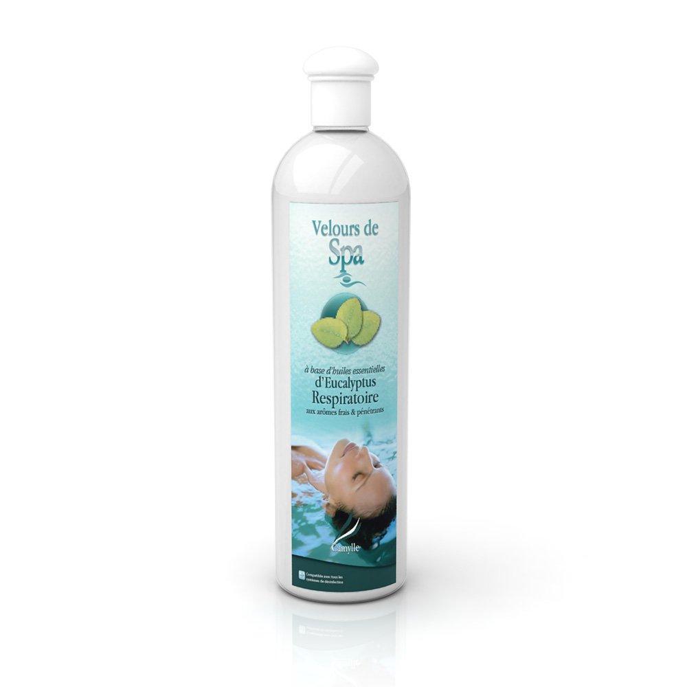 Camylle - Velours de Spa - Solution à base d'huiles essentielles pour spas – Eucalyptus - Respiratoire – 500ml