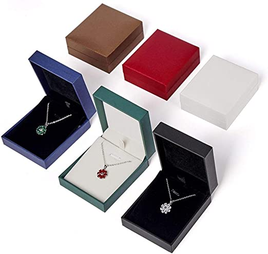 Guomao Caja Colgante Caja de joyería de Papel de Cuero Caja de ...