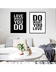 Wall Frames Quotes Home Decor, 40 x 60cm 2 Pieces Set