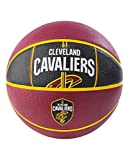 Spalding NBA Cleveland Cavaliers NBA Courtside Team Outdoor Rubber Basketballteam Logo, Maroon, 29.5''