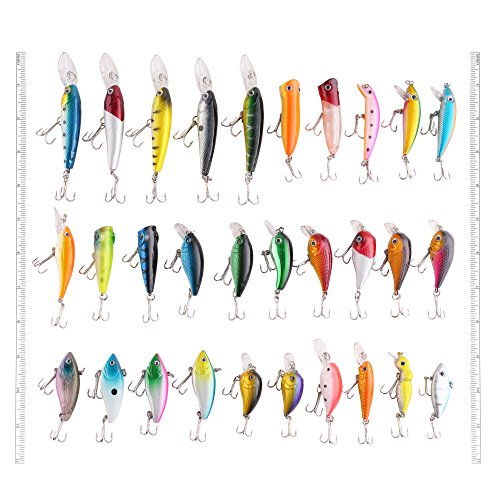 lotfancy-30-pcs-fishing-lures-for-freshwater-bass-lures-length-from-157-to-366-inches