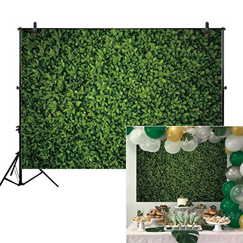 (Allenjoy 7x5ft Green Leaves Wall Backdrop for Photography Grass Floordrop Pictures Background Spring Birthday Party Ground Decor Outdoorsy Theme Newborn Baby Bridal Shower Wedding Photo Studio Booth)
