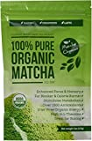 Matcha Organics Classic Matcha Green Tea Powder Extract - 100% Pure USDA Organic Culinary Grade - Bulk Starter Bag 4oz / 113g - Latte Mix, Smoothies, Baking Foods - FREE Top 100 Matcha Recipes Ebook
