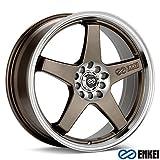 18x7.5 Enkei EV5 (Matte Bronze w/ Machined Lip) Wheels/Rims 5x105/110 (446-875-5238ZP)