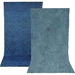Impact Reversible Muslin Background (10 x 12\', Stone Blue/Nickel)