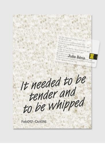 It Needed to be Tender and to be Whipped: (+USB-Stick with Audio Recording by the Artist)