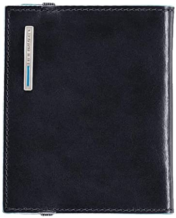 Piquadro Pocket Credit Card Holder In Leather, Dark Blue, One Size Piquadro Luggage Child Code PP1395B2/BLU2