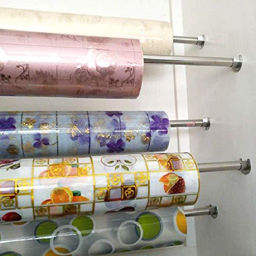 KSell 2pcs Soporte de Tubo Redondo para Barra de Tubo de Gabinete con 6 Tornillos 6 Tacos de Acero Inoxidable Forma U 25// 32mm 25mm