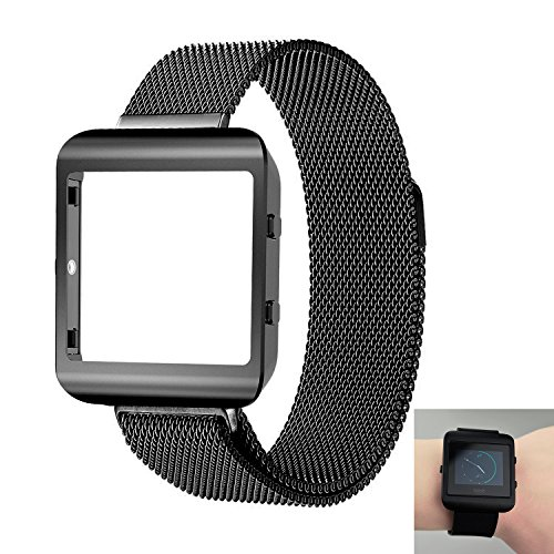 Ztotop Fitbit Blaze Accessory, New Style Frame Housing With Band For Fitbit Blaze Smart Watch(New Black Frame+Loop)