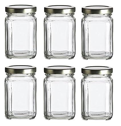 Amazon Nakpunar 6 Pcs 6 Oz Square Glass Jars For Jam Honey
