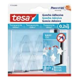 Tesa 77734 – 00001 – 00 Adhesive Hook for Clear Surfaces and Glass (0.2 kg)