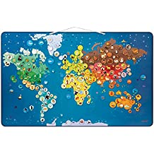 Janod Animals Magnetic World Map