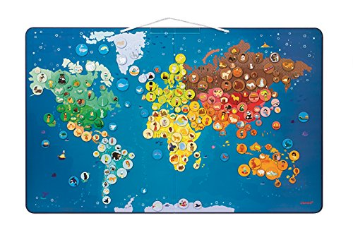 Janod Animals Magnetic World Map (Animals Of The World Map)
