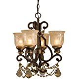 Crystorama 7504-BU-GTS Crystal Accents Four Light Mini Chandeliers from Norwalk collection in Bronze/Darkfinish,