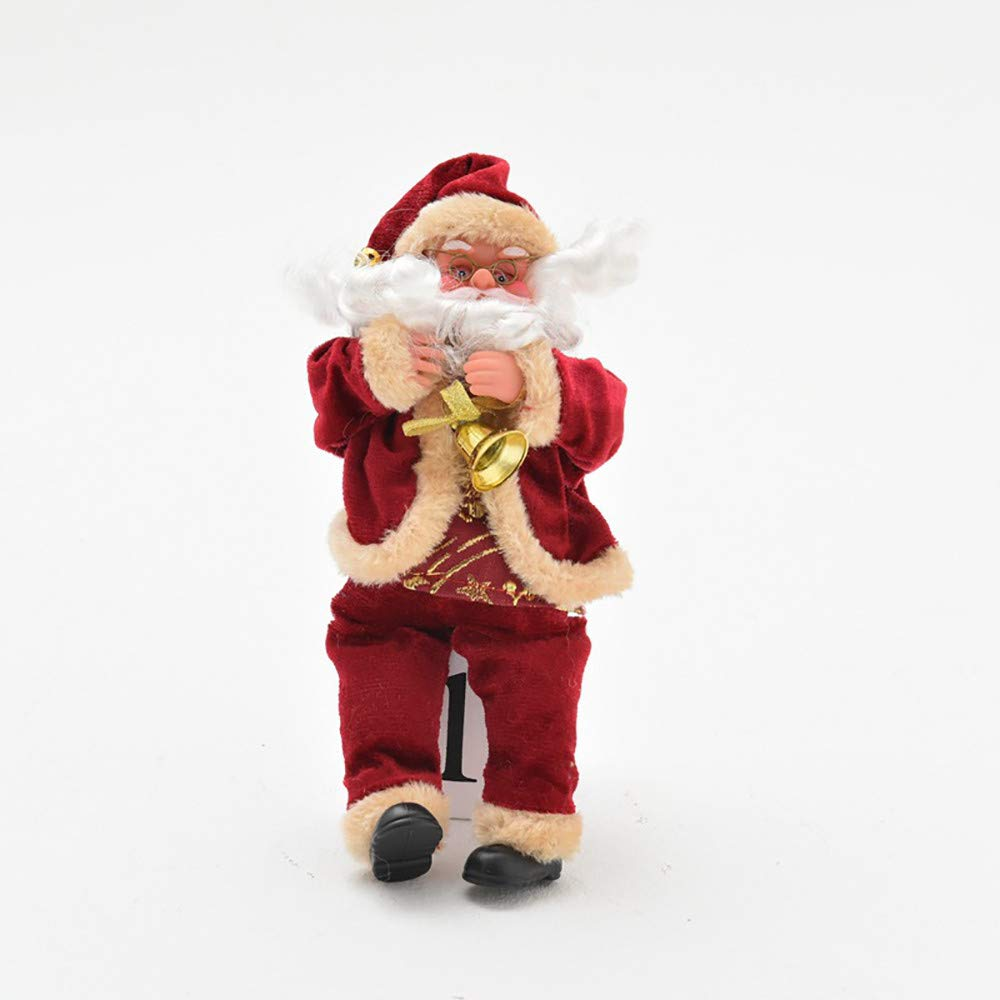 Christmas Tree Decorations Clearance,Jchen(TM) Merry Christmas Santa Flannelette Ornament Festival Party Xmas Table Decor Doll (Red)