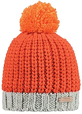 Barts Unisex Jordan - bobble hat - Multicoloured (Orange Grau) d9d1e6659a1