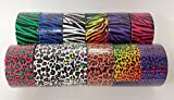 Bazic Products Animal Print Duct Tape Collection - 12 Rolls Safari Print Duct Tape - 5 Yards each Roll