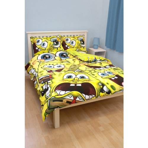 Great Deal! Childrens/Kids SpongeBob SquarePants Bedding Duvet Cover and Pillowcase (Twin Bed) (Yell...