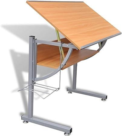 vidaXL Escritorio Oficina Mesa de Dibujo Ordenador Despacho ...