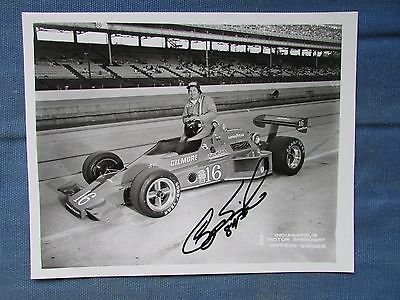 George Snider autographed 1980 Indy 500 8x10 photo by Outstanding Collectibles