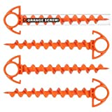 Orange Screw: The Ultimate Ground Anchor Small Ã'¬œ 4 Pack