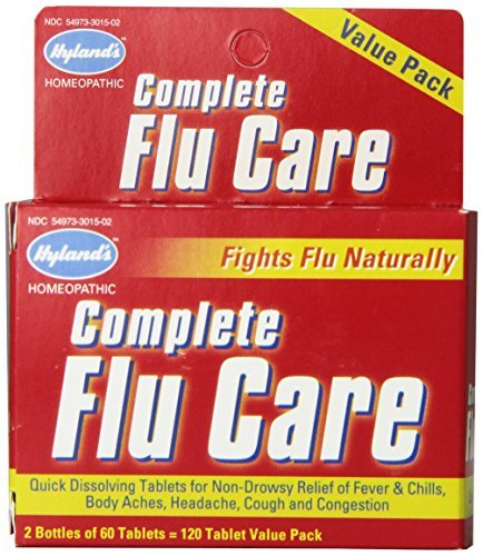 Hyland's Complete Flu Care Tablets, Natural Non-Drowsy Relief of Flu Symptoms, 120 Count by Hyland's ()