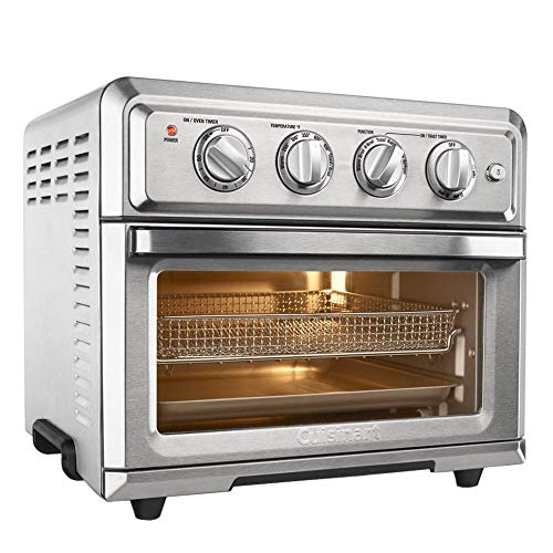 Cuisinart TOA-60 Convection Toaster Oven Air Fryer with Light, Silver w 1 Year Extended Warranty