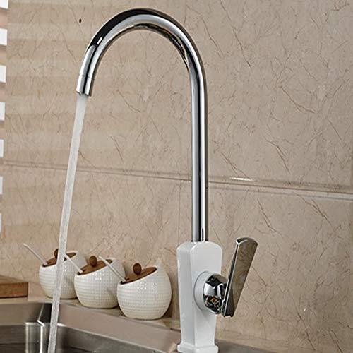 Decorry Großhandel Und Einzelhandel Marke NEUE Höhe Stil Chrom Messing Küchenarmatur Vanity Sink Mischbatterie Schwenkauslauf Einzigen Griff Loch