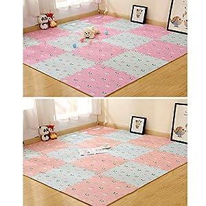 Wyi Puzzle Baby Play Mats EVA Foam Baby Crawling Mat 8 Pcs Interlocking Playmat Tiles Non Toxic Thick Floor Playmat for…