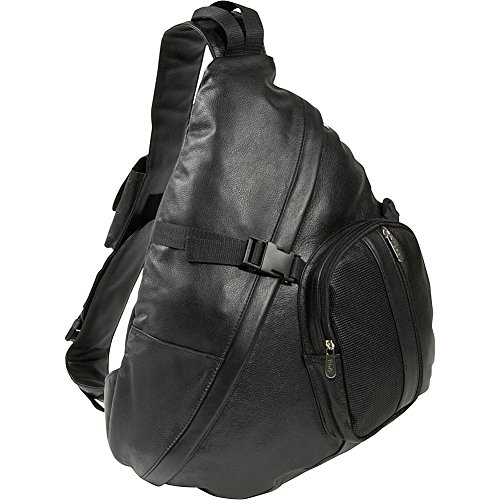 AmeriLeather APC Leather Cross Body Sling Bag (Apc Backpack)