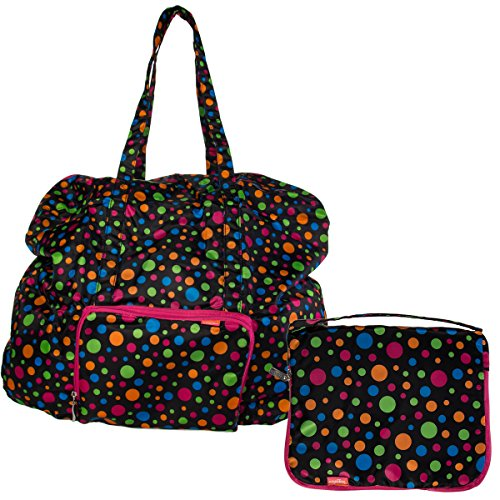 Baggallini Luggage Large Zip-Out Travel Bag, Polka Dot, One Size (Baggallini Zip)