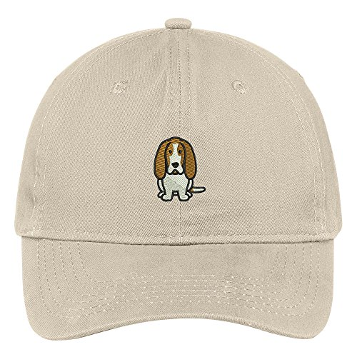 Trendy Apparel Shop Basset Hound Dog Breed Embroidered Soft Cotton Low Profile Dad Hat Baseball Cap - ()