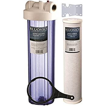 """Two 20/"""" Whole House Big Blue Water Purifier Filters /> BLUONICS Sediment /& Carbon"""