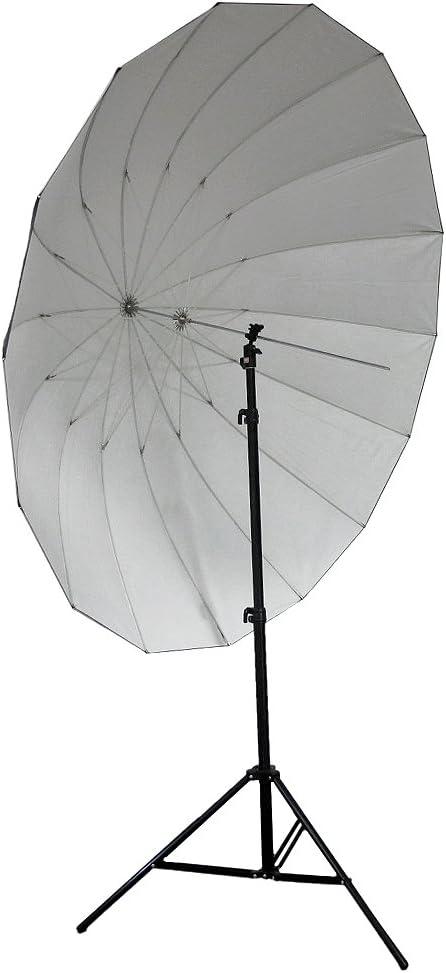 Neewer 72 185cm Silver With Black Cover Reflective Parabolic Umbrella 16 Fiberglass Rib 7mm Shaft Includes Portable Carrying Bag Camera Photo