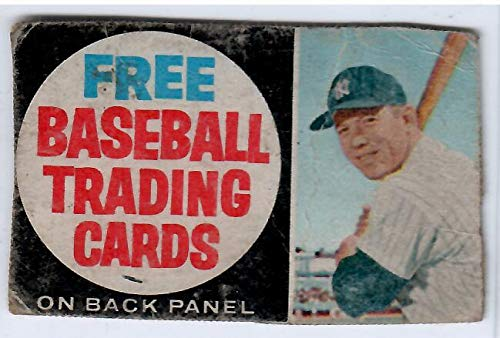 1962 Hand Cut Post Cereal Box Baseball Card Ad Panel Featuring Mickey Mantle Yankees