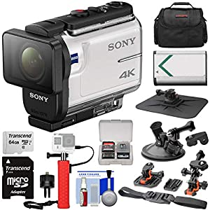 51UlWmkRHWL. SS300 - Sony Action Cam FDR-X3000 Wi-Fi GPS 4K HD Video Camera Camcorder with Action Mounts + 64GB Card + Battery + Power Hand Grip + Case + Kit