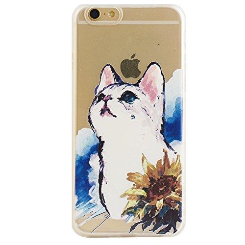 Voguecase® für Apple iPhone 6 Plus/6S Plus 5.5 (5,5 zoll) hülle, Schutzhülle / Case / Cover / Hülle / TPU Gel Skin (Aquarell weiß) + Gratis Universal Eingabestift