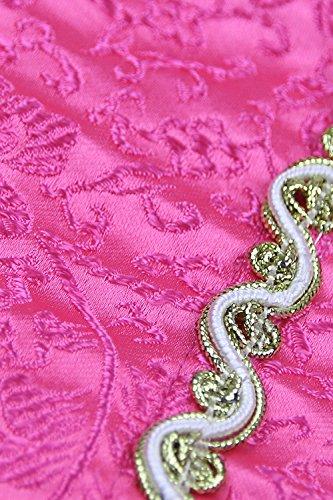 Kimring Women's Luxurious Mrs Claus Christmas Marabou Trim Overbust corsé Top Rosa