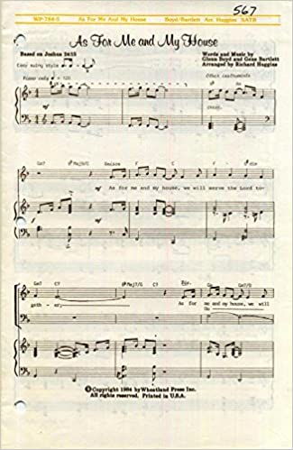 Amazon.com: As for Me and My House SATB Sheet Music with Piano ...