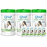 CPAP Cleaner Mask Wipes - 3X 110 Packs + Travel Wipes | The Original Unscented Cleaning Supply for Masks | RespLabs Equipment, Machine Supplies