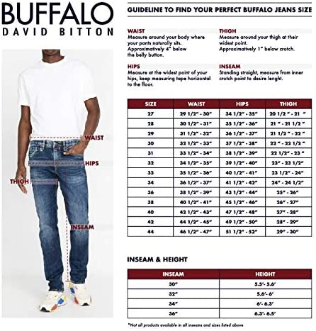 Buffalo David Bitton Men's King Slim Boot Fit Denim Pant, Indigo, 40x30