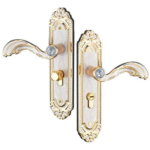 Baoblaze Aluminum Door Handle Sets Lever LATCH LOCK BEDROOM BATHROOMPRIVACY PACKS #2 by Baoblaze (Image #4)