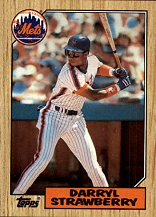 Amazoncom 1987 Topps Baseball Card 460 Darryl Strawberry