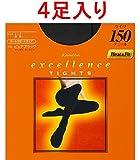 【限定】 kanebo エクセレンス 150D タイツ 黒 M~L×4足