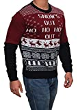 Ugly Christmas Sweater - Snow's Out Ho Ho Ho's Out mens ugly Christmas Sweater By Miracle (Medium)