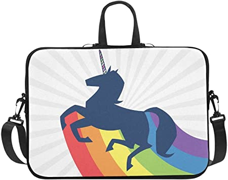 My Rainbow Pony Laptop Sleeve Case Handheld One Shoulder Shockproof Oxford Protective Case//Notebook Computer Pocket Case//Tablet Briefcase Carrying Bag Compatible-13 inch