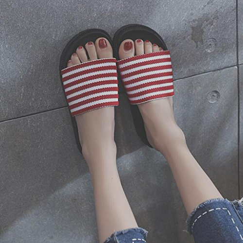 Red Summer Xy Spiaggia Piatto Antiscivolo Eu36 cn36 Fashion Infradito colore Scarpe Fondo Ciabatte Flip Red Per E All'aperto Dimensioni Studenti Da uk4 Female Flop fAgfrpqy